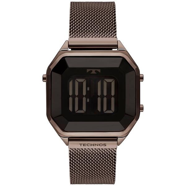 Relógio Technos Feminino Digital Bj3851al/4p Marrom