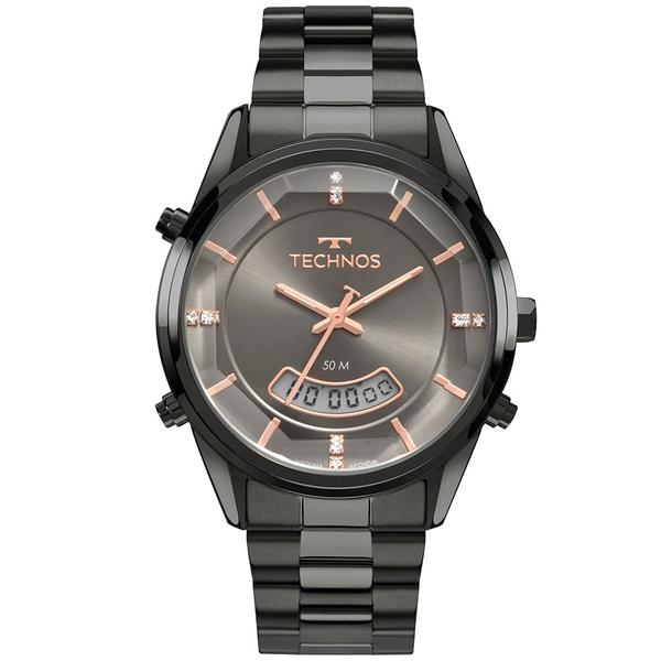 Relógio Technos Feminino Trend Anadigi T200ak/4c Grafite