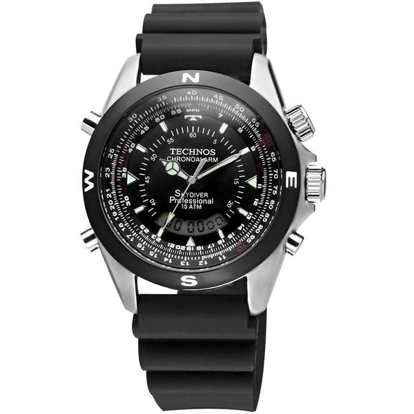 Relógio Technos Masculino Skydiver T20561/8k Prata