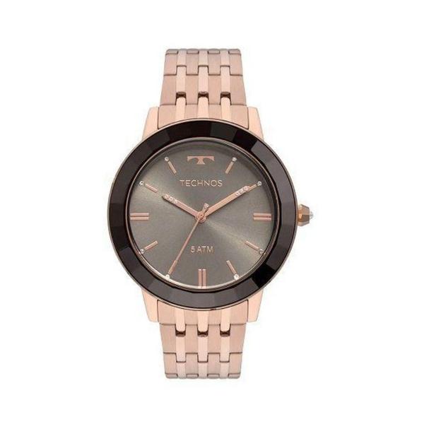 Relógio Technos Feminino Elegance Crystal Vh31aaa/4t Rosé