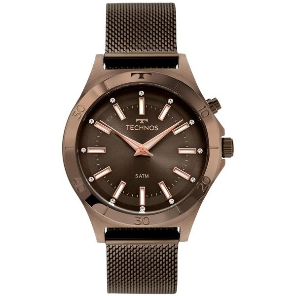 Relógio Technos Feminino Trend Y121e3ae/1m Marrom
