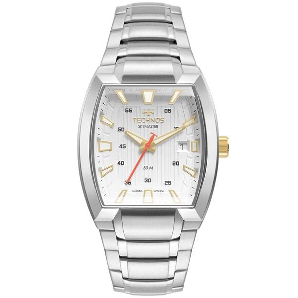 Relógio Technos Masculino Skymaster 2117lcn/1b Prata