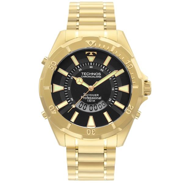 Relógio Technos Masculino Skydiver Wt205fl/4p Dourado