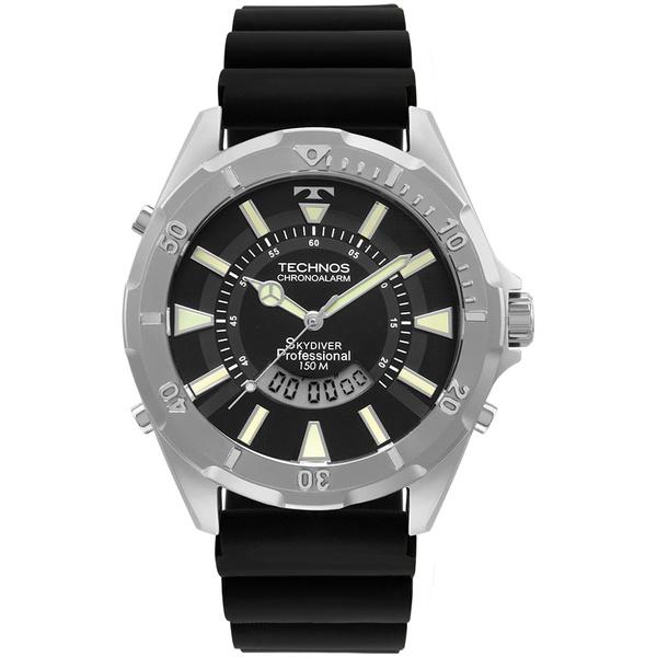 Relógio Technos Masculino Skydiver Wt205fz/2p Prata