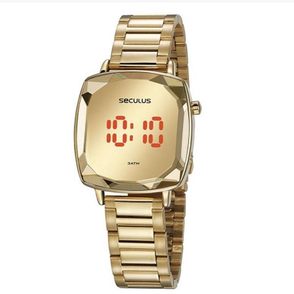 Relógio Seculus Feminino Digital 77077lpsvds1 Dourado