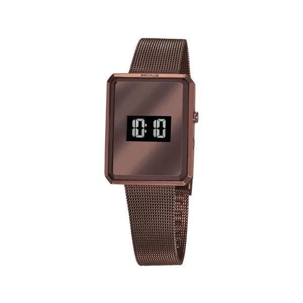 Relógio Seculus Feminino Digital 77061lpsvms3 Marrom