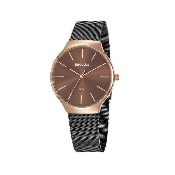 Relógio Seculus Feminino Fashion 77057lpsvis2 Bicolor