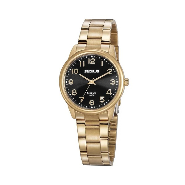 Relógio Seculus Feminino Social 20863lpsvda2 Dourado
