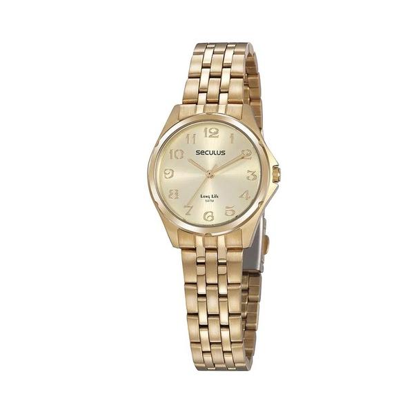 Relógio Seculus Feminino Social 20866lpsvda1 Dourado