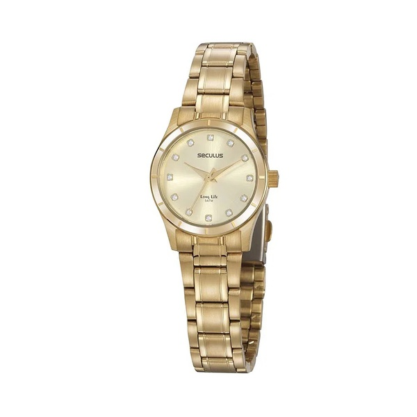 Relógio Seculus Feminino Social 20888lpsvda1 Dourado