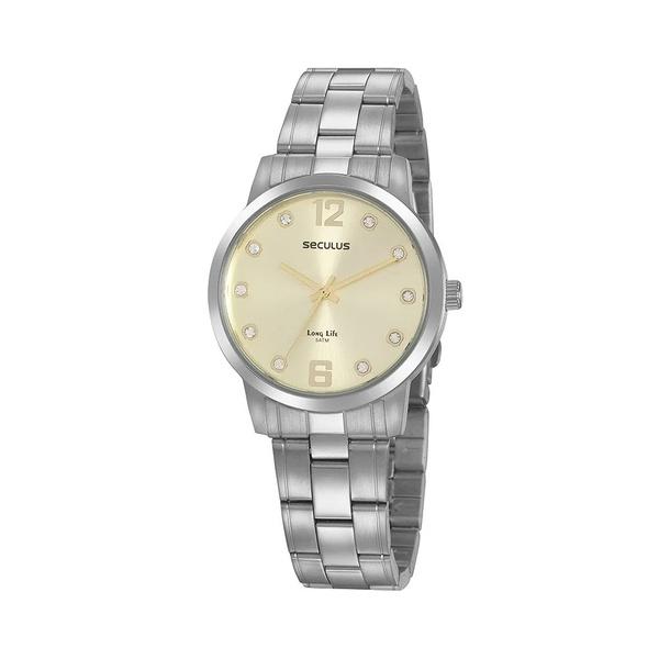 Relógio Seculus Feminino Casual Cristais 20952L0SVNA2 Prata