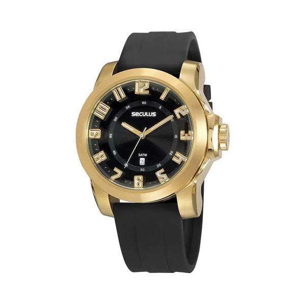 Relógio Seculus Masculino Silicone 20913gpsvdu2 Preto