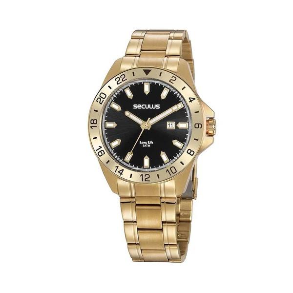 Relógio Seculus Masculino Casual 20801GPSVDA2 Dourado