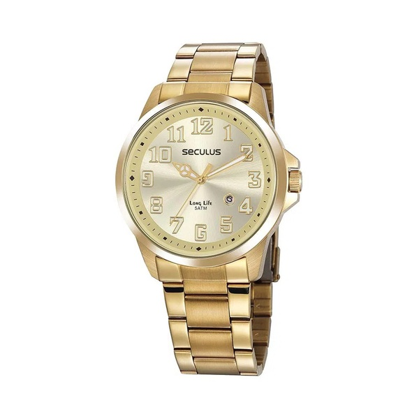 Relógio Seculus Masculino Casual 20856GPSVDA1 Dourado