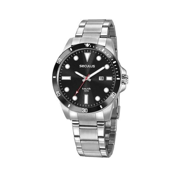 Relógio Seculus Masculino Casual 20789G0SVNA1 Prata