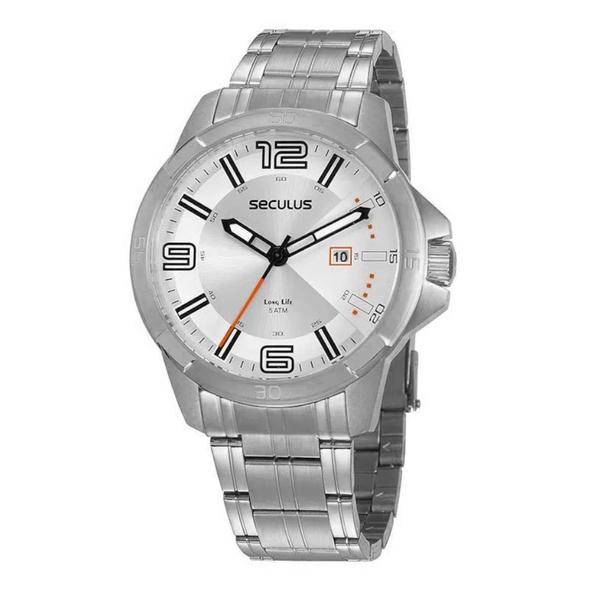 Relógio Seculus Masculino Casual 20851G0SVNA3 Prata