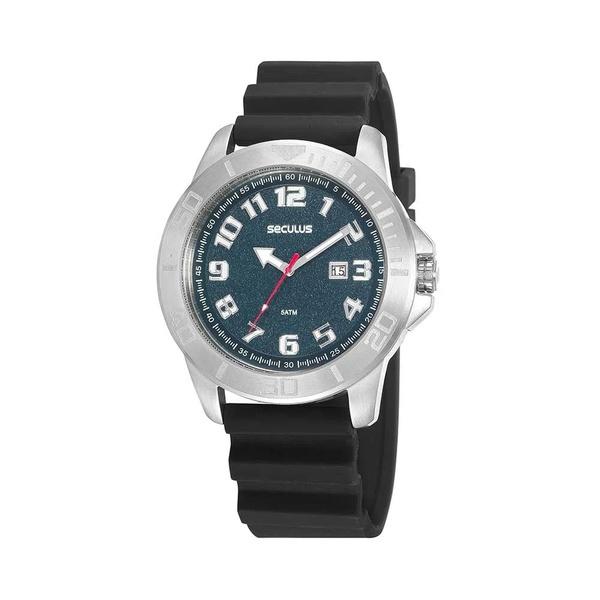 Relógio Seculus Masculino Esportivo Silicone 20933G0SVNU3 Preto