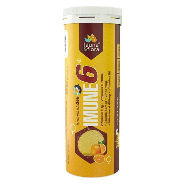 Tubo - IMUNE 6 (Vitamina C 1g + Vitamina D 2000UI + Selênio 34mcg + Zinco 7mg + Vitamina A 600cmg + Vitamina B6)