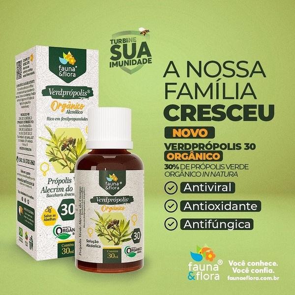Verdeprópolis Orgânico Solução Alcoólica 30% 30ml