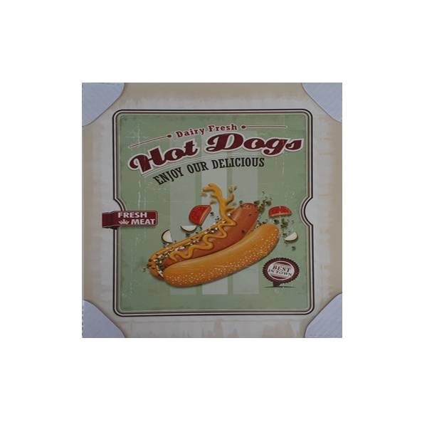 QUADRO 30X30CM HOT DOGS