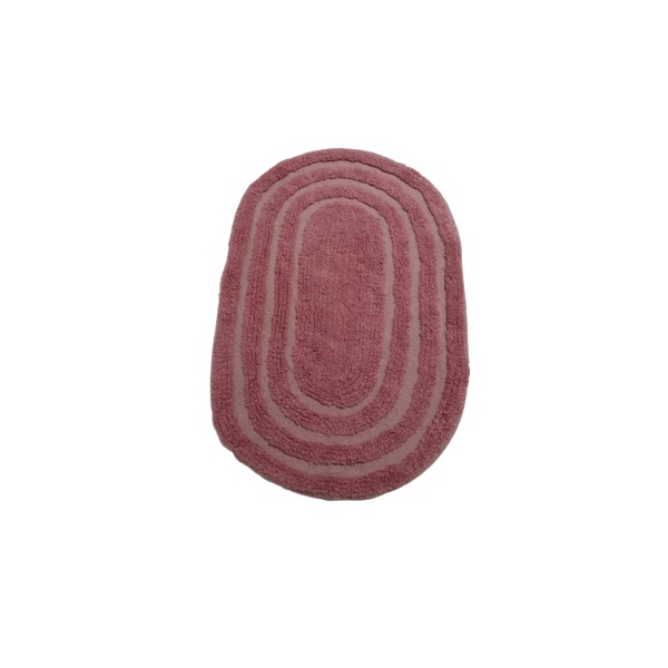 TAPETE INDIANO OVAL 40X60CM ROSA