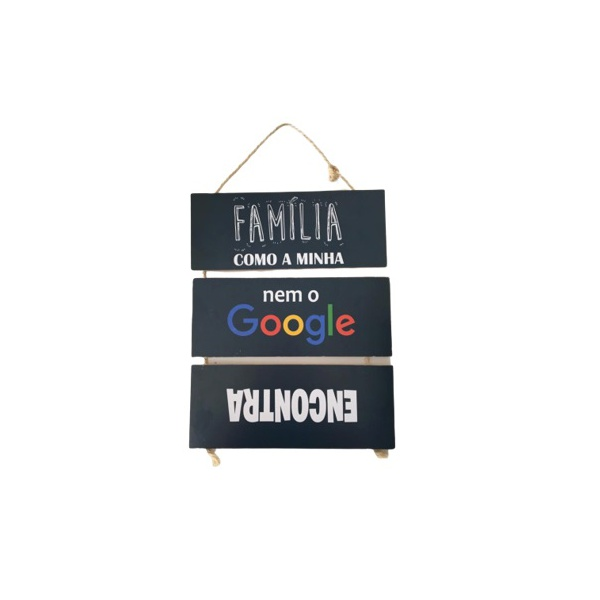 JOGO PLACAS CORDA C/3 FAMILIA