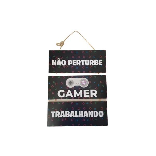 JOGO PLACAS CORDA C/3 NÃO PERTURBE