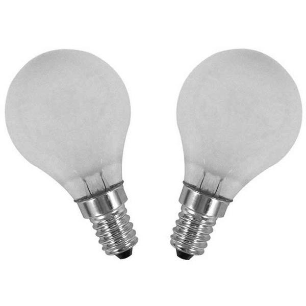 LAMPADA BOLINHA 60W E-14 CLARA 127V C/ 2 PECAS