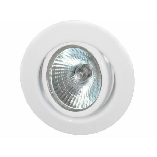 EMBUTIDO REDONDO C/ LAMPADA 50W GU10 BRANCO 127V