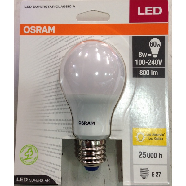 LAMPADA BULBO LED 8W/830 BIVOLT OSRAM