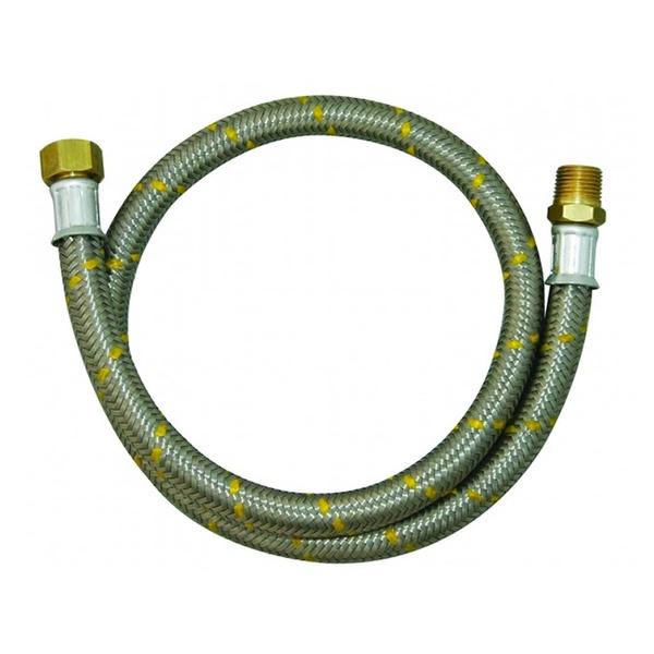 MANGUEIRA PARA GAS INOX 3/8 1,25 M INT/EXT JACKWAL