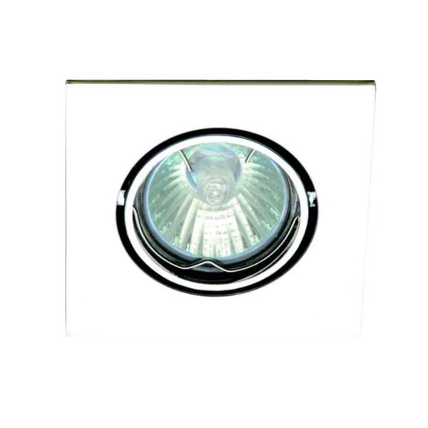 EMBUTIDO QUADRADO C/ LAMPADA 50W GU10 BRANCO 127V