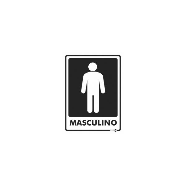 PLACA BANHEIRO MASCULINO