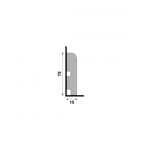 RODAPE 446 RP/NA-04 7CM BARRA C/2,4M SANTA LUZIA