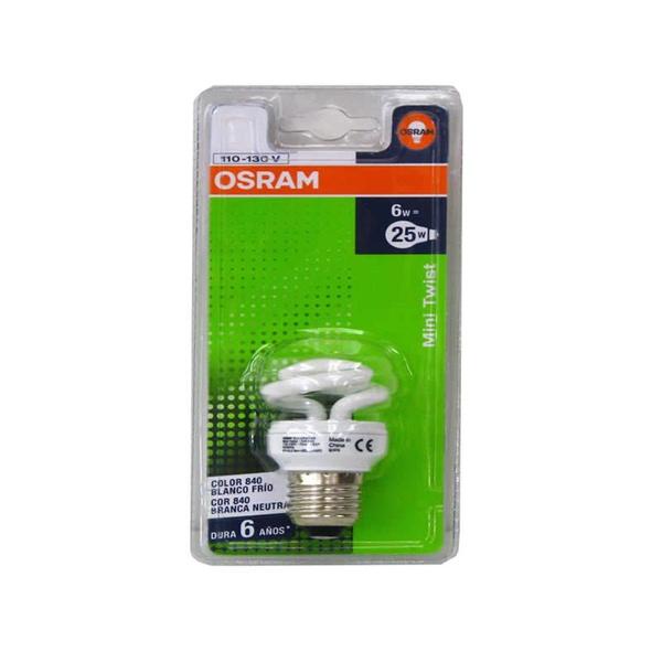 LAMPADA ELETR TWIST ESPIRAL MINI 12W 827 127VOSRAM