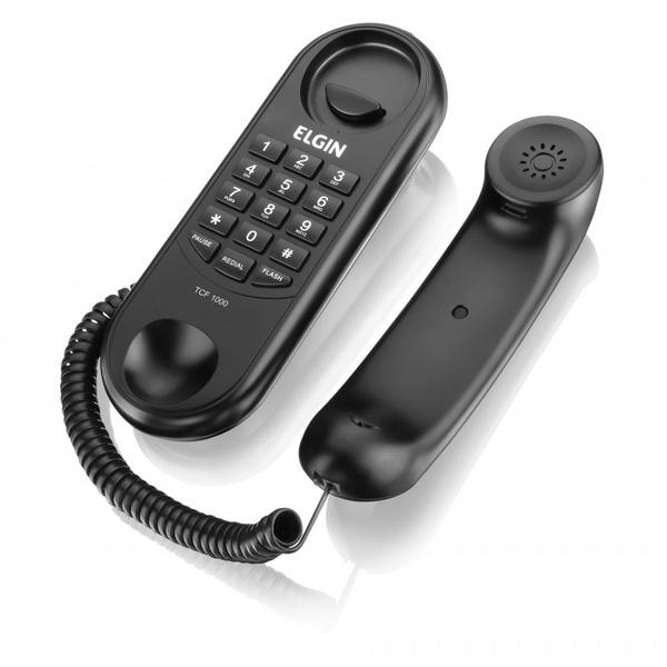 TELEFONE GONDOLA SEM CHAVE PRETO ELGIN