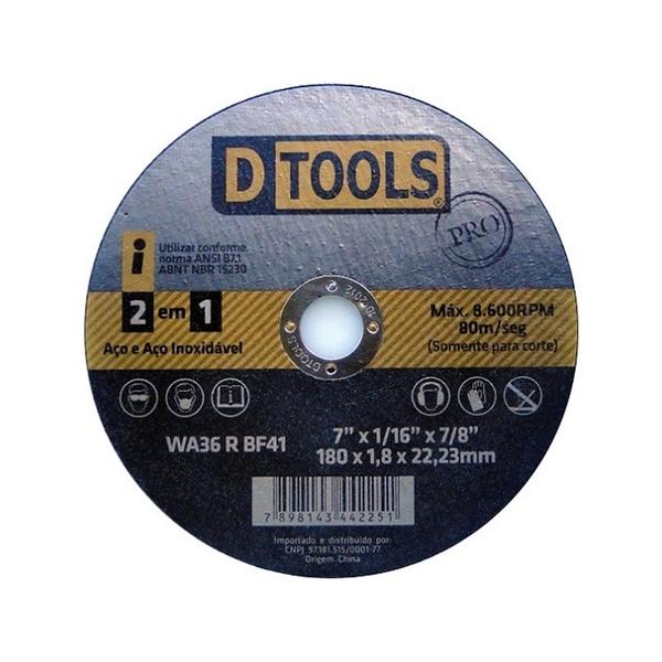 DISCO CORTE 4,5 ACO/INOX DTOOLS