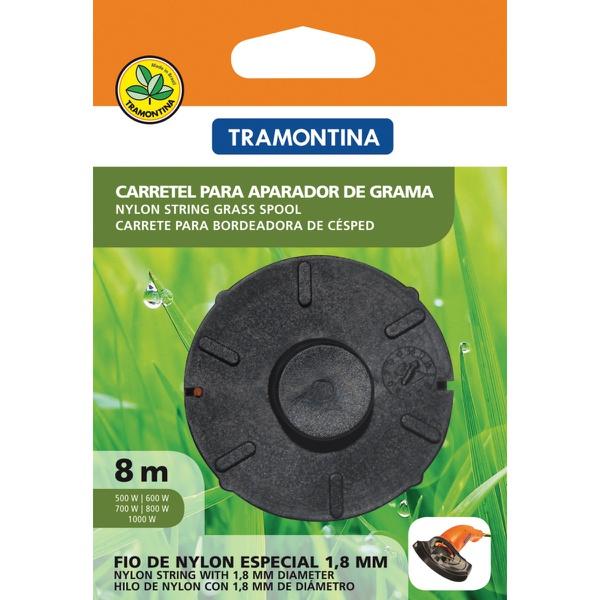 CARRETEL P/ APARADOR DE GRAMA 1 FIO 1,8MM 8 METROS TRAMONTINA