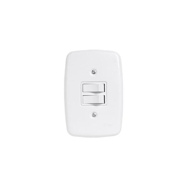 Interruptor 2 Seções 4x2 Completa Ideale Pluzie