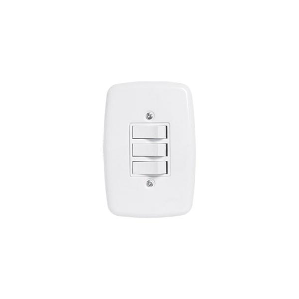 Interruptor 3 Secoes 4x2 Completa Ideale Pluzie