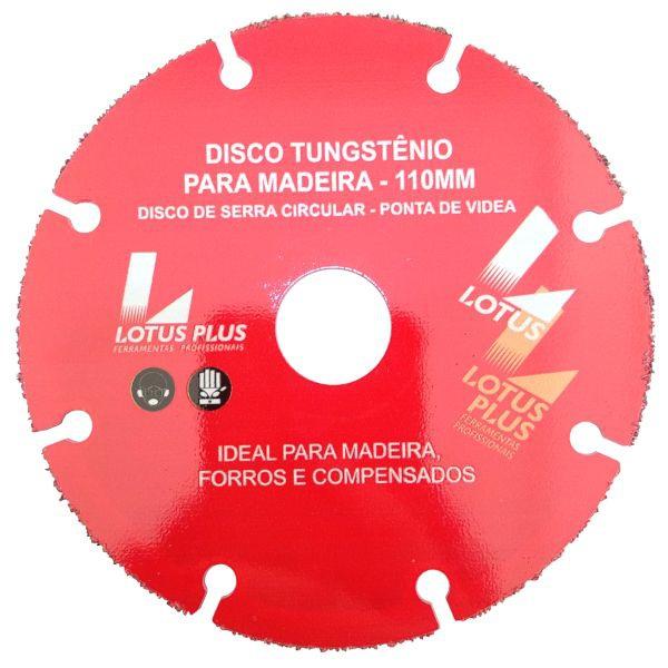 Disco De Corte Em Tungstênio 110mm Profissional Para Madeira