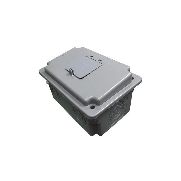 Caixa Para Disjuntor Cdj 3 Cinza Trifásico Ampla