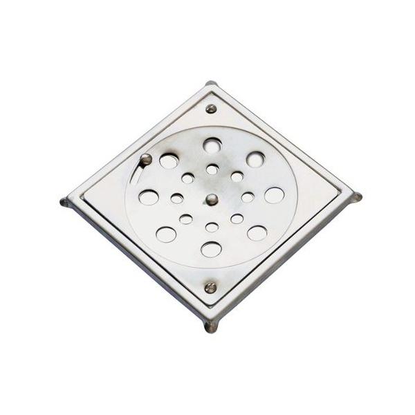Grelha Quadrada Em Inox Com Caixilho 10 x 10