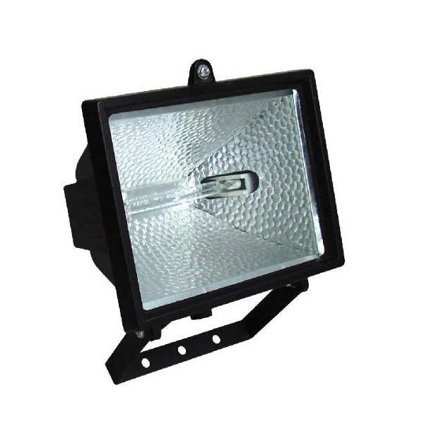 Refletor Para Lâmpada Halogena 300/500w Preto