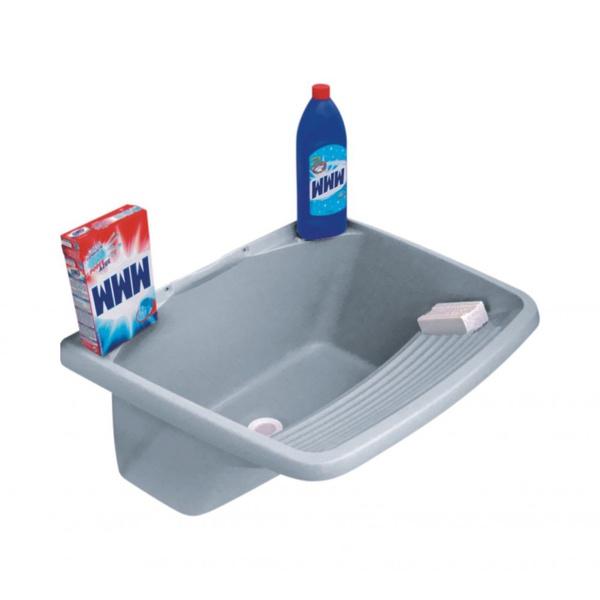 Tanque Para Lavar Roupa 37 / 24 Litros Em Pvc Cinza
