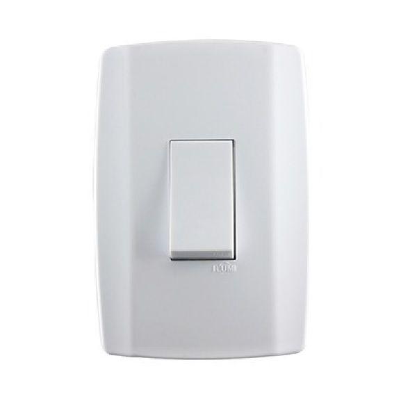Interruptor 1 Seção Paralelo 4x2 Completa Slim