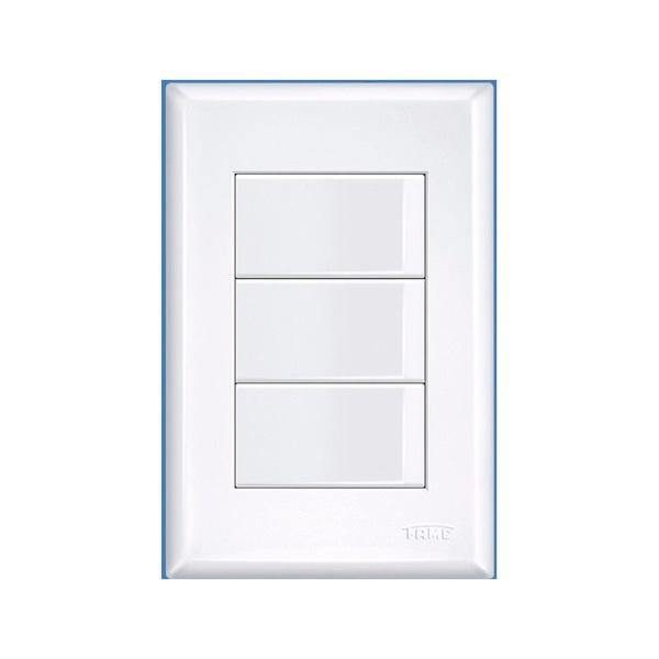 Interruptor 3 Seções Simples 4x2 Evidence Fame