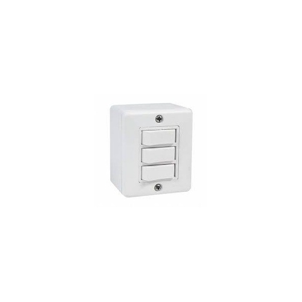Interruptor 3 Seções Linha Box Sistema x Canaleta