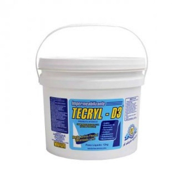 Manta Fria Liquida Impermeabilizante Tecryl D3 Branco 12kg