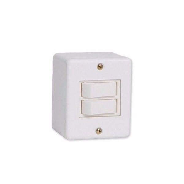 Interruptor 2 Seções Linha Box Sistema x Canaleta